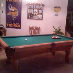Pool Table-8 ft, Oak